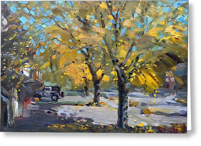 Fall Trees Greeting Cards - Fall in Silverado Dr  Greeting Card by Ylli Haruni
