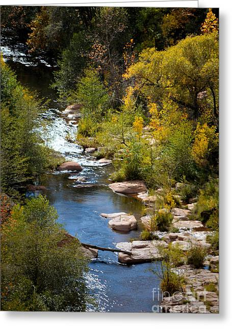 Oak Creek Greeting Cards - Fall in the Mountains Greeting Card by Deb Halloran