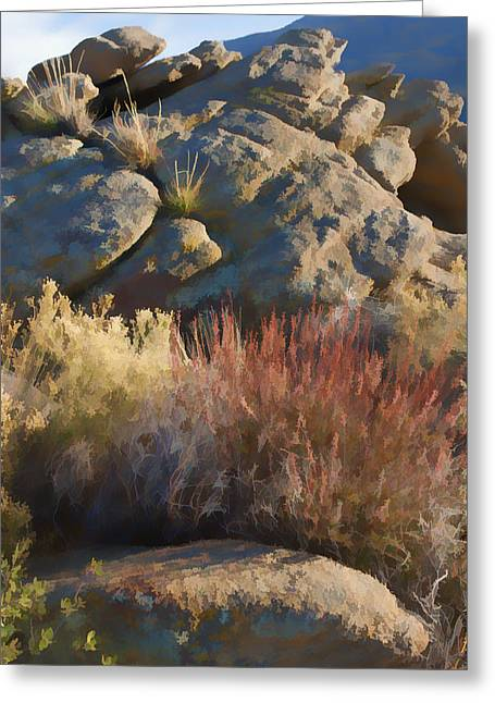 Painterly Greeting Cards - Fall in the Santa Rosas Greeting Card by Scott Campbell
