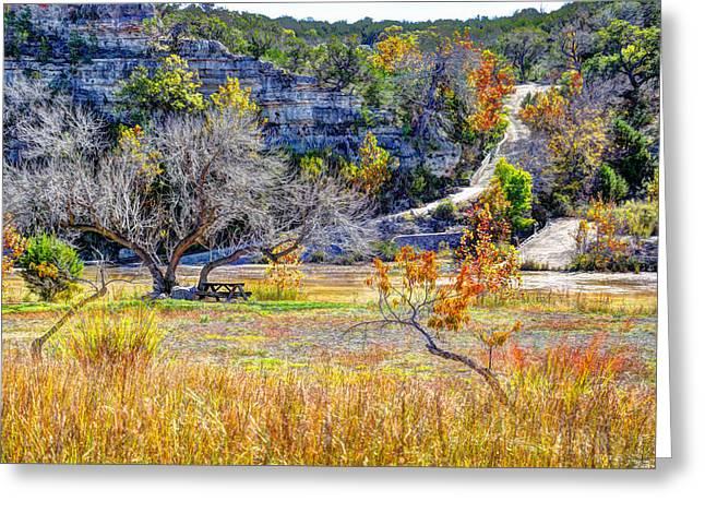 Autumn In The Country Digital Art Greeting Cards - Fall in the Texas Hill Country Greeting Card by Savannah Gibbs