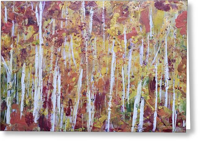 Recently Sold -  - Whimsical. Greeting Cards - Fall Into Greeting Card by Tamara Gonda