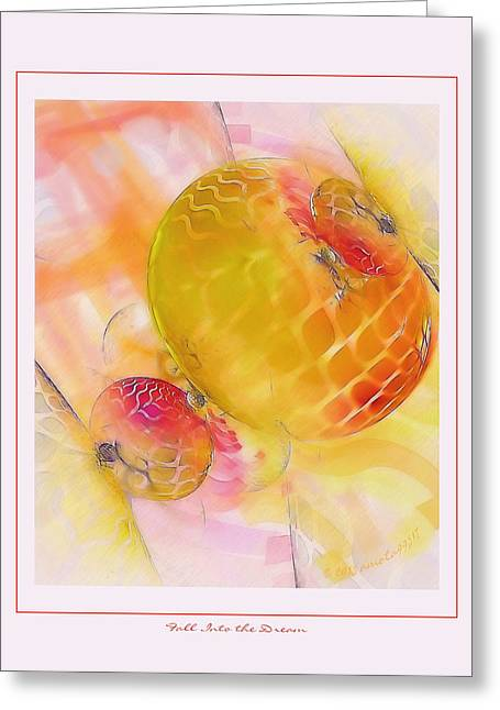 Graphic Digital Art Pastels Greeting Cards - Fall Into the Dream Greeting Card by Gayle Odsather