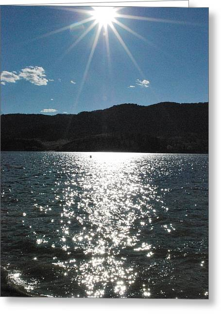 Horsetooth Reservoir Greeting Cards - Fall Lake Greeting Card by Alex Hendricks