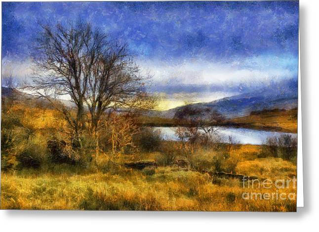 Fall River Scenes Digital Greeting Cards - Fall Lake Greeting Card by Ian Mitchell