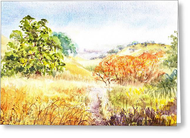 Fall Landscape Briones Park California Greeting Card by Irina Sztukowski