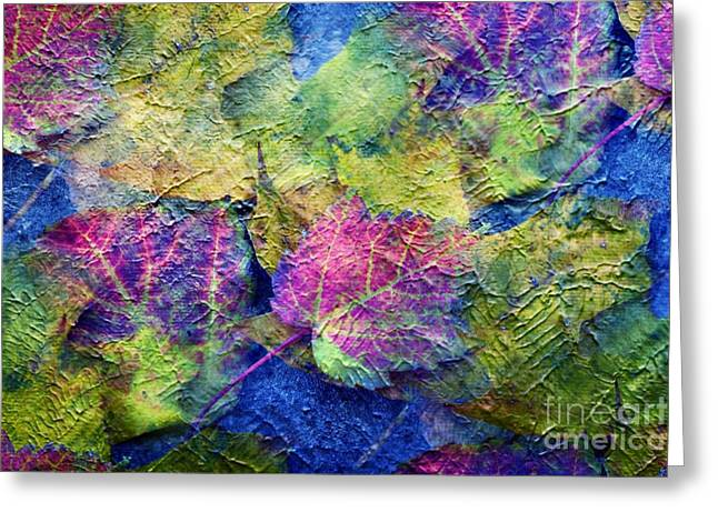 Fall Leave Abstract Greeting Card by Judy Palkimas