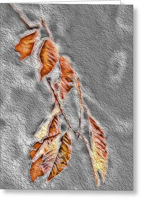 Bare Trees Mixed Media Greeting Cards - Fall Leaves Study 3 - Fall Paint 2 Greeting Card by Steve Ohlsen