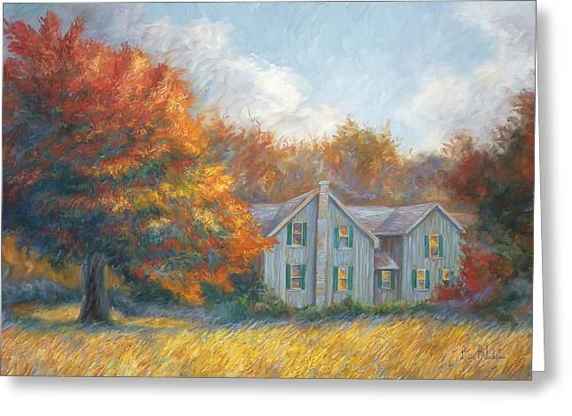 Farm House Greeting Cards - Fall Greeting Card by Lucie Bilodeau