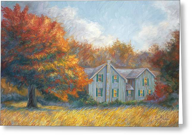 Fall Greeting Card by Lucie Bilodeau