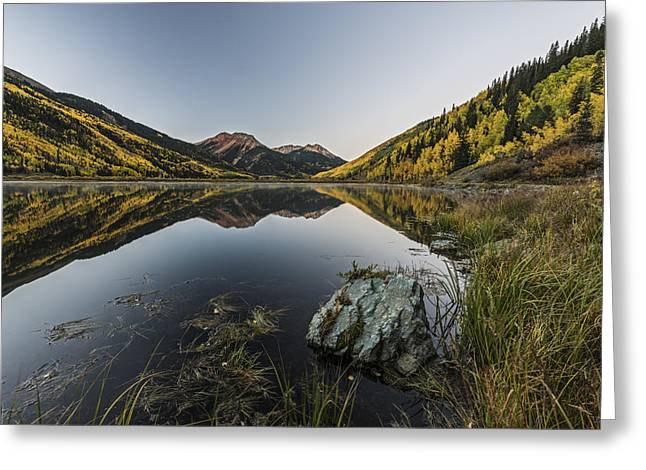 Divide Greeting Cards - Fall Mirror Greeting Card by Jon Glaser