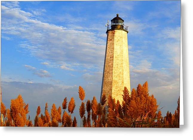 Fall Morning At Lighthouse Point Greeting Card by Stephen Melcher