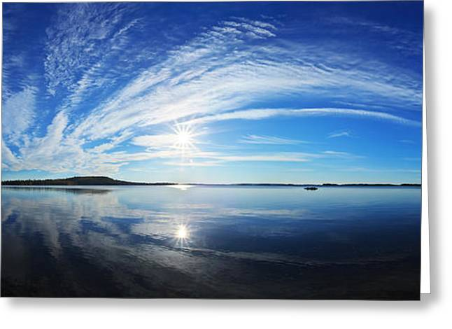 Maine Landscape Greeting Cards - Fall Morning at Meddybemps Panorama Greeting Card by Bill Caldwell -        ABeautifulSky Photography