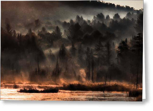 Fall Morning Fog Greeting Card by Jeff Folger