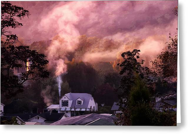 Mountain Valley Greeting Cards - Fall morning in Milton Greeting Card by Chris Flees
