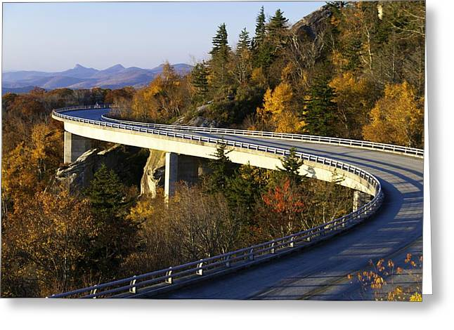 Roadway Greeting Cards - Fall Morning on the Viaduct Greeting Card by Lynn Bauer