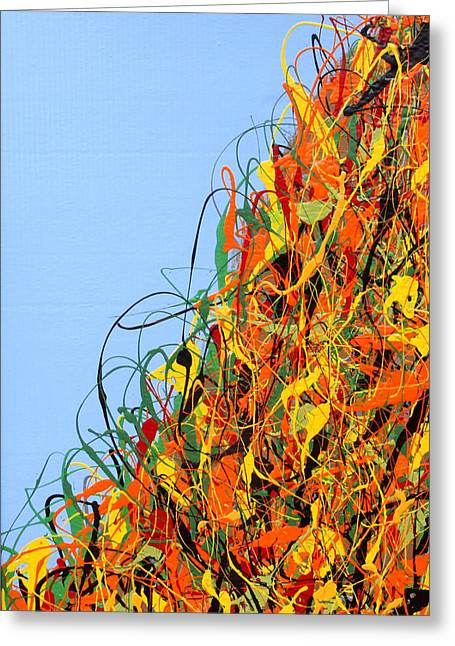 Fallscape Greeting Cards - Fall No 2 Greeting Card by Julian Raven