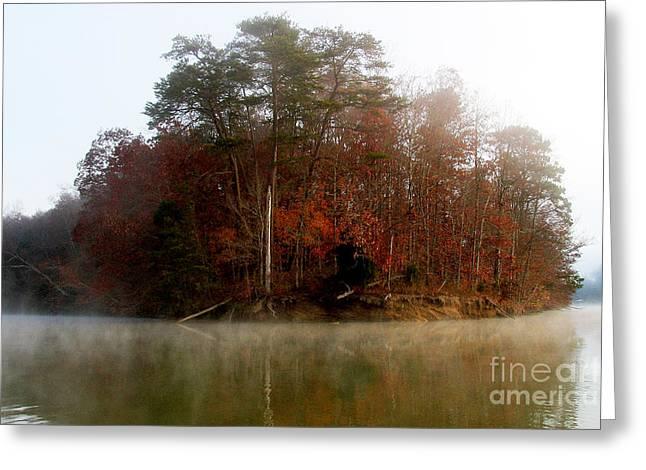 Fall On Melton Hill Lake Greeting Card by Douglas Stucky