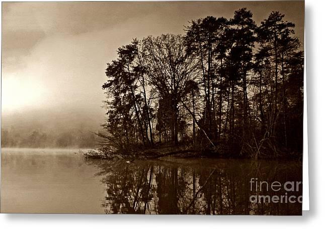 Fall On Melton Hill Lake V Greeting Card by Douglas Stucky