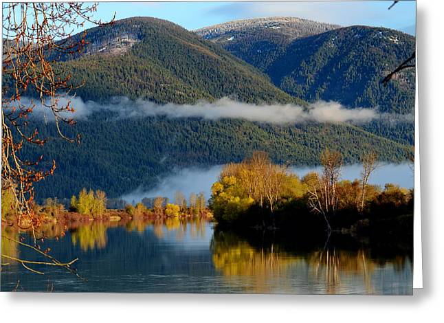 Annie Pflueger Greeting Cards - Fall on the Kootenai Greeting Card by Annie Pflueger
