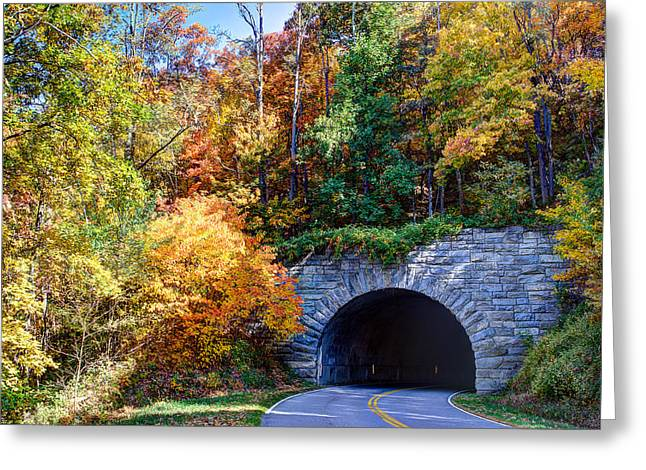 Fall On The Parkway Greeting Card by Walt  Baker