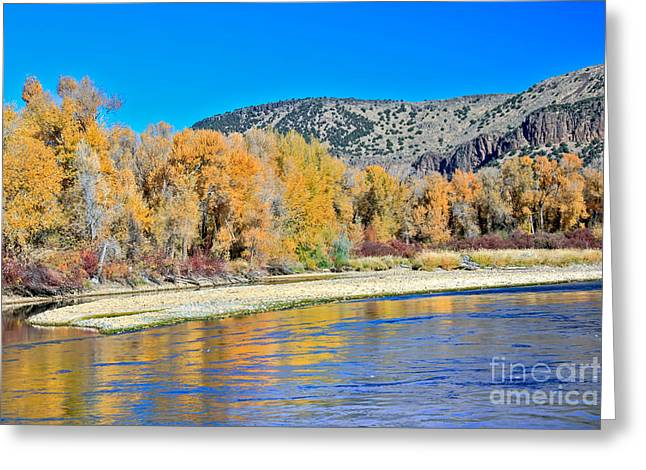 Haybales Greeting Cards - Fall On The Snake River Greeting Card by Robert Bales