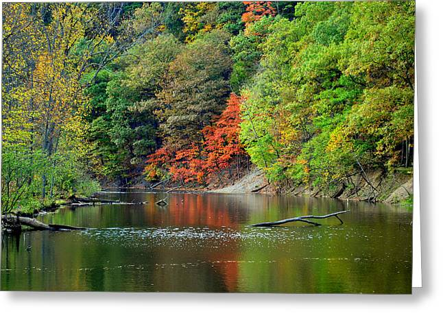 Naturaleza Greeting Cards - Fall Painting Greeting Card by Frozen in Time Fine Art Photography