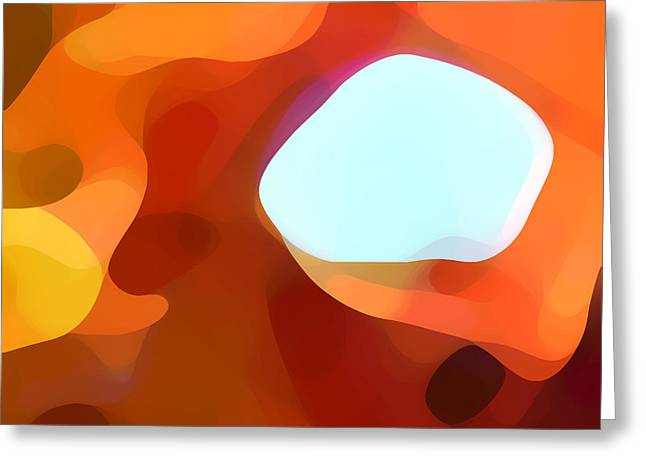 Abstract Movement Greeting Cards - Fall Passage Greeting Card by Amy Vangsgard