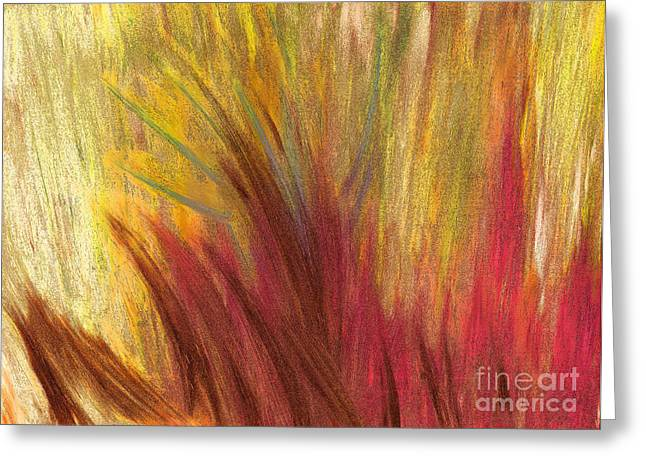 Abstract Digital Pastels Greeting Cards - Fall Prairie Grass by jrr Greeting Card by First Star Art