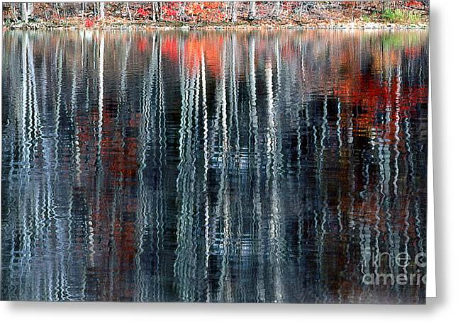 Transparency Geometric Greeting Cards - Fall Reflection 1 Greeting Card by Rich Killion