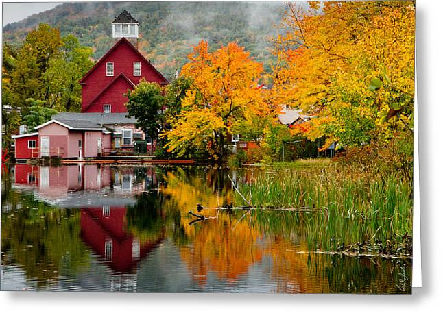 Sandwich Greeting Cards - Fall Reflections Greeting Card by Carl Jacobs