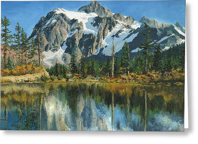 Mary Ellen Anderson Greeting Cards - Fall Reflections - Cascade Mountains Greeting Card by Mary Ellen Anderson