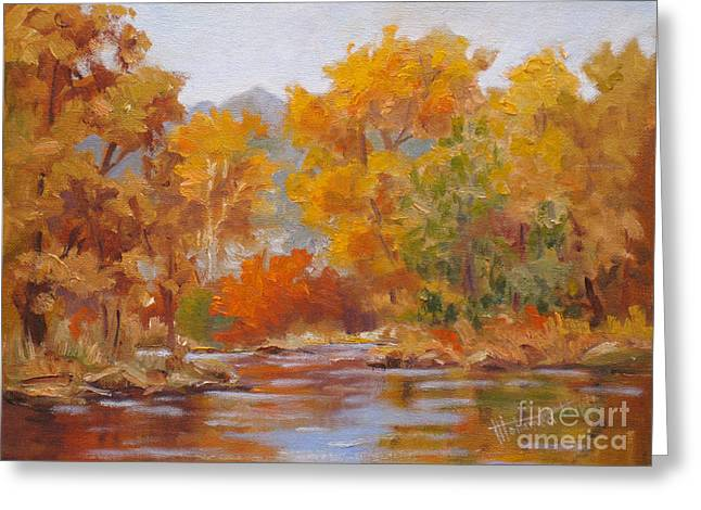Mohamed Greeting Cards - Fall Reflections Greeting Card by Mohamed Hirji