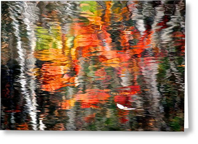 123 Greeting Cards - Fall Reflections Greeting Card by Frozen in Time Fine Art Photography