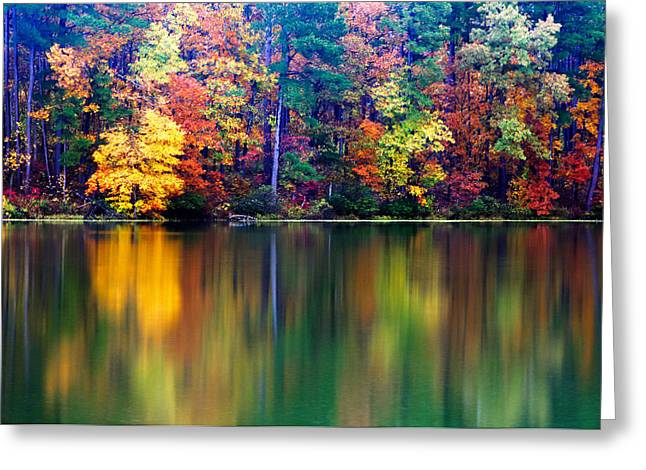 Fall Reflections Greeting Card by Tony  Colvin