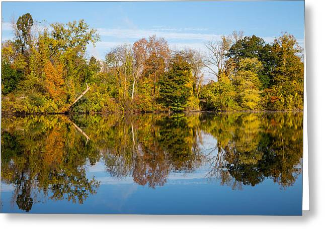 Early Autumn Greeting Cards - Fall Reflects Greeting Card by Karol  Livote