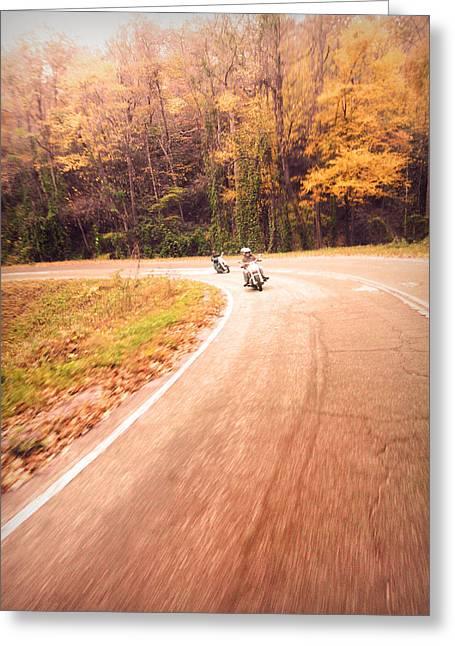 South Carolina Greeting Cards - Fall Ride Greeting Card by Kelly Hazel