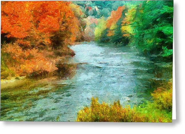 Anthony J Caruso Greeting Cards - Fall River Greeting Card by Anthony Caruso