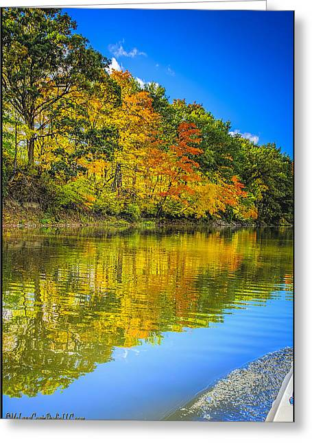A River In Autumn Greeting Cards - Fall River Reflections Greeting Card by LeeAnn McLaneGoetz McLaneGoetzStudioLLCcom