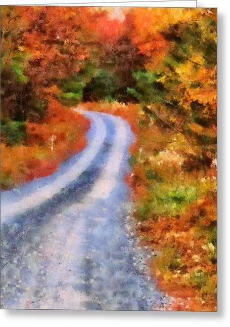 Fall Colors Greeting Cards - Fall Road To Paradise Greeting Card by Dan Sproul