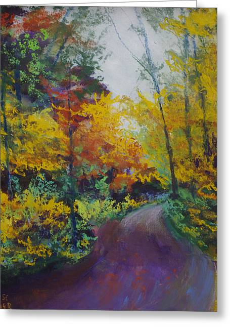 States Pastels Greeting Cards - Fall Road to Whipple Dam Greeting Card by Denise Wagner