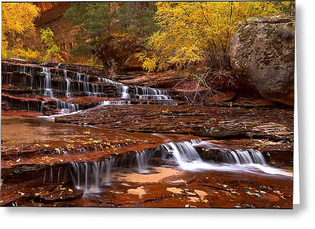Hike The Subway Greeting Cards - Fall Greeting Card by Rob Daugherty