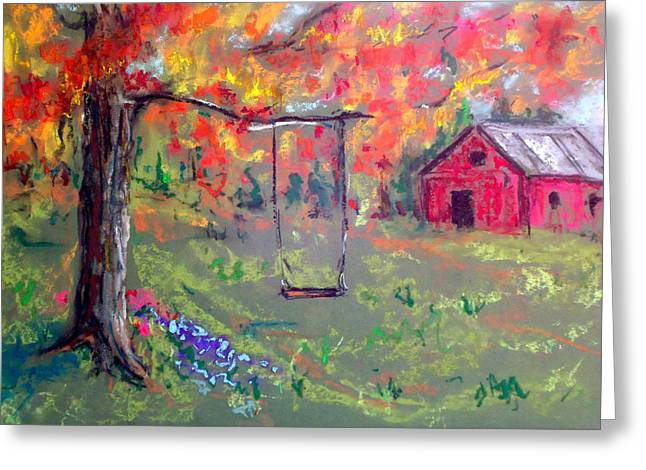 Fall Pastels Greeting Cards - Fall Scene 14 Greeting Card by Pete Maier