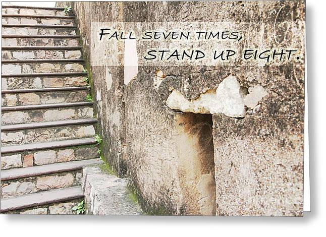 Realize Greeting Cards - Fall seven Times stand up eight Greeting Card by Four Hands Art
