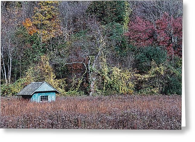 Fall Shed #1 Greeting Card by Glenn Cuddihy