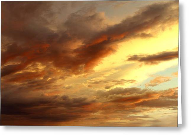 Warm Summer Greeting Cards - Fall sky  Greeting Card by Les Cunliffe