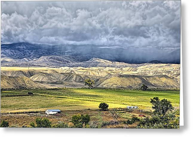 Jogging Greeting Cards - Fall Storms Montrose Colorado Greeting Card by James Steele