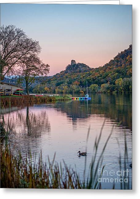 Recently Sold -  - Fall Scenes Greeting Cards - Fall Sugarloaf with Duck Greeting Card by Kari Yearous