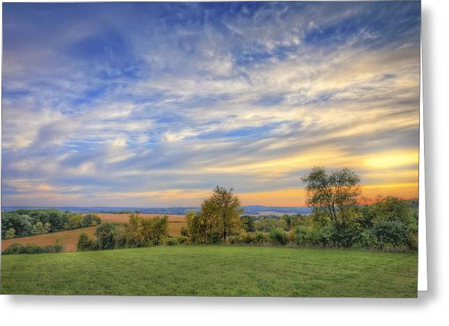 Nature Center Greeting Cards - Fall sunset - Retzer Nature Center - Waukesha 2 Greeting Card by The  Vault - Jennifer Rondinelli Reilly