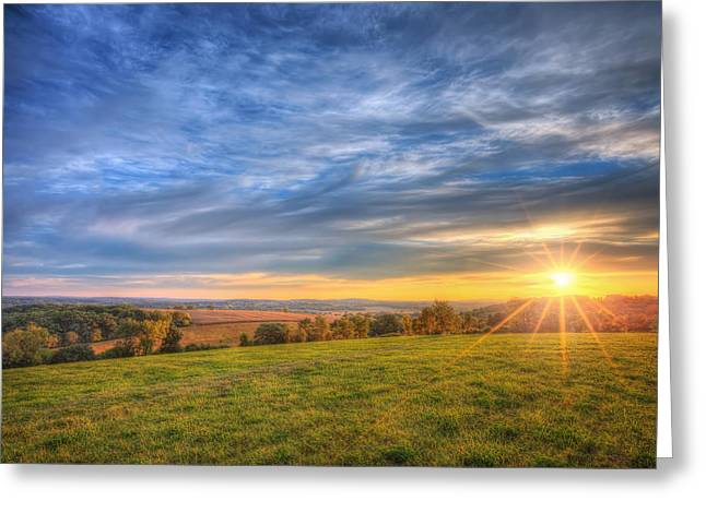 Wisconsin Landscape Greeting Cards - Fall sunset - Retzer Nature Center - Waukesha Greeting Card by The  Vault - Jennifer Rondinelli Reilly
