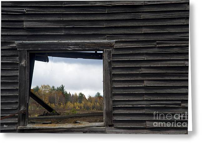 Old Maine Barns Greeting Cards - Fall Through The Hayloft Greeting Card by Alana Ranney